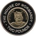 Гернси 2 фунта 2006 Стефан Нормандская династия Королевские династии Англии (Guernsey 2 pounds 2006 Stefan Norman Dynasty Royal Dynasties of England).Арт.257492/85D