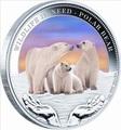 Тувалу 1 доллар 2012.Белые медведи серия Дикая природа в опасности.Арт.000287640390/60