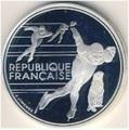 Франция 100 франков 1990. XVI Зимние Олимпийские игры 1992 года в Альбервиле.Конькобежный спорт.Франция 100 франков 1990.