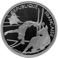 Франция 100 франков 1990. XVI Зимние Олимпийские игры 1992 года в Альбервиле. Фрисайл. Франция 100 франков 1990.