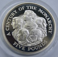 Столетие Монархии. Гернси 5 фунтов 2000.