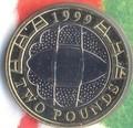 Великобритания 2 фунта 1999.Чемпионат мира по регби 1999.Арт.000023141684/60