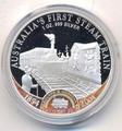 Острова Кука 1 доллар 2004. Первый паровоз Австралии.