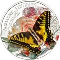 Андорра 5 динеров 2013 Бабочка Махаон серия Экзотические Бабочки 3D (Andorra 5 Diners 2013 Exotic Butterflies Papilio Machaon 3D Silver Coin).Арт.000233242561/60