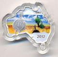 Материк. Страус Эму. Австралия 1 доллар 2012.