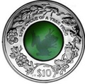Британские Виргинские Острова 10 долларов 2011.Лягушка (кристалл).Арт.000204642794/60