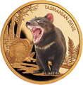 Ниуэ 100 долларов 2013 Тасманийский Дьявол Исчезающие Виды (Niue $100 2013 Tasmanian Devil Endangered 1oz Gold Proof Coin).Арт.4000Е/88