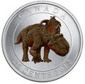 Канада 25 центов 2012.Динозавр – Пахиринозавр серия Доисторические животные.