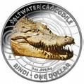 Австралия 1 доллар 2013.Австралийский Морской Крокодил - Бинди(эмаль).Арт:000283542846