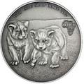 Конго 1000 франков 2012.Детеныши льва (львята).Арт.000357842422/60