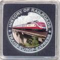 Либерия 5 долларов 2011. История железных дорог. Транс-Европейский экспресс.
