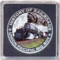 Либерия 5 долларов 2011. История железных дорог. США. Union Pacific «Big Boy».
