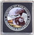 Либерия 5 долларов 2011. История железных дорог. США. Durango and Silverton .