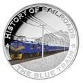 Либерия 5 долларов 2011. История железных дорог. Голубой Экспресс.