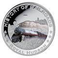 Либерия 5 долларов 2011. История железных дорог. Королевский Хадсон.
