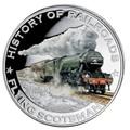 Либерия 5 долларов 2011. История железных дорог. Летучий Шотландец.