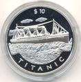 Корабль - «Титаник». Либерия 10 долларов 1999. Арт: 000180241515