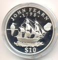 Корабль Джона Фирна. Науру 10 долларов 1994. Арт: 000121939907