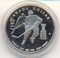 """Канада 1 доллар 1993. """"Хоккей. 100я годовщина существования Кубка Стэнли – 1993""""."""