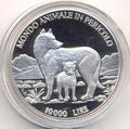 Волки. Сан-Марино 10 000 лир 1996.
