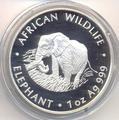 Слон. Замбия 5000 квачей 2000.