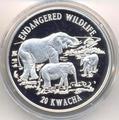 Слоны. Малави 20 квача 1996.
