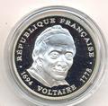 Франция 100 франков 1994. Вольтер.