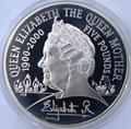 Великобритания 5 фунтов 2000. Королева-мать Елизавета.