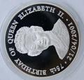 75-летие Елизаветы II. Замбия 1000 квачей 2001.