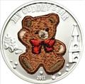 """""""Мишка"""" """"Вязанный"""" (мальчик). Палау 5 долларов 2011."""
