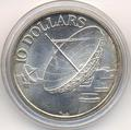 Спутники связи. Локаторы. Сингапур 10 долларов 1978.