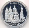 Либерия 20 долларов 2001. Города и страны Европы. Нидерланды.