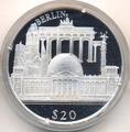 Либерия 20 долларов 2000. Города мира. Берлин.