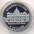 Собор Святого Петра. Миллениум-2000. Либерия 5 долларов 2000.