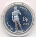 Сокровища музеев Европы. Давид. Микеланджело. Франция 10 франков - 1,5 евро 1996.