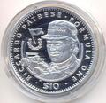 Формула-1. Риккардо Патрезе. Либерия 10 долларов 1992.