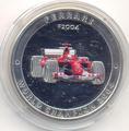 Феррари F2004. Острова Кука 5 долларов 2005.