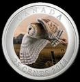 Канада 25 центов 2013. Сова