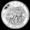 Канада 25 долларов 2013.Олень Карибу с детенышем.Арт.000273744190/60