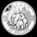 Канада 25 долларов 2013.Полярный медведь с детенышами.Арт.000279244188/60