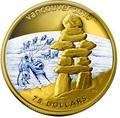 Канада 75 долларов 2008. Серия: Ванкувер – 2010. Инукшук