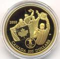 Канада 200 долларов 2010. Ванкувер. Первое золото