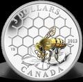Канада 3 доллара 2013. Пчела и улей