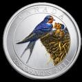 Канада 25 центов 2011. Ласточка