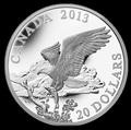 Канада 20 долларов 2013. Белоголовый орлан: Возвращение с охоты