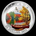 Канада 20 долларов 2013. Осеннее блаженство.
