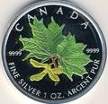 Канада 5 долларов 2002. Зеленый кленовый лист.Арт.000214143800