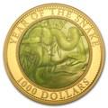 Острова Кука 1000 долларов 2013. Год Змеи