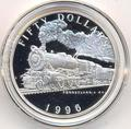Маршалловы острова 50 долларов 1996. Поезд -Пенсильвания К4
