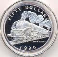 Маршалловы острова 50 долларов 1996. Поезд -SNCF 232U1